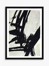 Nero 2 - Framed Print & Mount, 76 x 56cm, Black