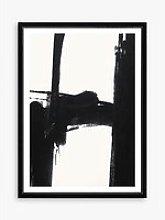 Nero 3 - Framed Print & Mount, 76 x 56cm, Black