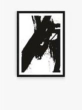 Nero 4 - Framed Print & Mount, 76 x 56cm, Black