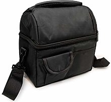 NERTHUS Food Carrier Bag with Double Floor, Black,