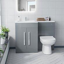 Neshome - Alice Left Hand Light Grey Bathroom