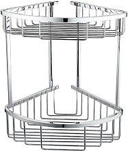 Neshome - Corner Shower Caddy Double Shelf Basket