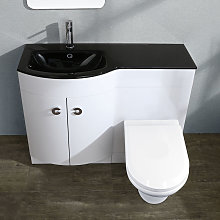 Neshome - TATE Left Hand White Gloss Bathroom