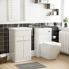 Neshome - Torex White Vanity Cabinet with Back To