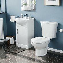 Neshome - White 450 Cloakroom Basin Sink Vanity
