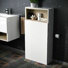 Neshome - White Modern WC Cabinet Unit For Back To