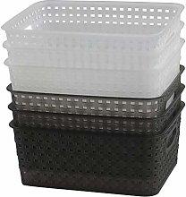 Nesmilers 6 Packs Woven Storage Basket, Kitchen