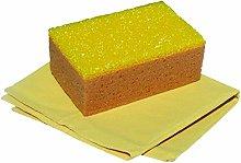 Nespoli Car Kit with Leather Cloth and Sponge,