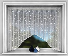 Net Curtain Jardiniere, White Nets Lace Ready to