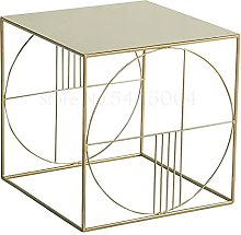 Net Red Bedside Table Iron Side Table Simple
