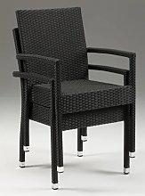 Netfurniture Asta Stackable Wicker Chair With Arms - Indoor/outdoor