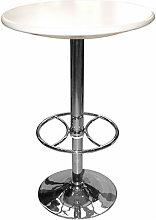 Netfurniture - Carboni White Adjustable Tall Bar
