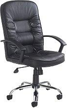 Netfurniture - Here Black Leather Executive Office