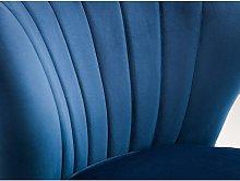 Netfurniture - Loco Velvet Accent Chair - Blue