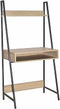 Netfurniture - Lust Ladder Bookcase Desk Oak
