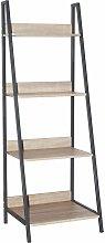 Netfurniture - Lust Ladder Bookcase Unit Oak