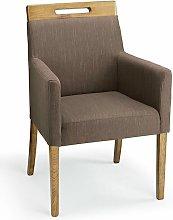 Netfurniture - Modosi Fabric Wood Chair Brown