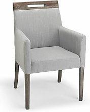 Netfurniture - Modosi Fabric Wood Chair Grey