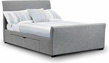 Netfurniture - Tulip Fabric Bed With Storage Units