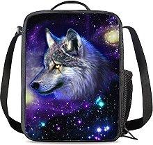 NETILGEN Galaxy Wolf Hiking Lunch Thermal Box