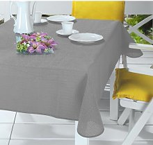 Netta Tablecloth August Grove Colour: Silver/Grey,