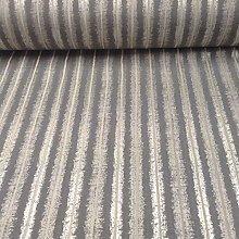 Neurone Grey Stripe Faux Silk Designer Material