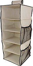 Neusu Strong 5 Shelf Hanging Wardrobe Organiser, 4