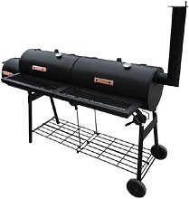 Nevada BBQ Offset Charcoal Smoker and Grill by