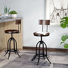 Nevada Height Adjustable Swivel Bar Stool Borough