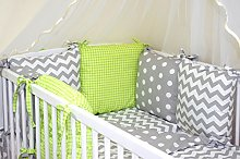 NEW 12 PCS BABY BEDDING SET FOR COT / COTBED with