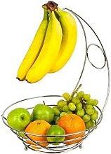 New 2 in 1 Chrome Banana Hook Hanger Tree Fruit