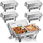 NEW 2 PANS CHAFING DISH SET STAINLESS STEEL 8.5L