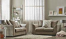 New 3 + 2 Fabric Sofa Suite Beige Tipton Sofa