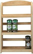 New 3 Tier Hevea Wood Wooden Herb Spice Rack Jar