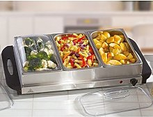 New 300W Large Electric Buffet Server 3 Warming