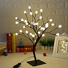 New 36 LEDs Ball Light Tree Desk Top Bonsai Tree