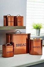 New 5-Piece Copper Colour Oval Storage Se