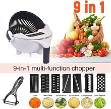 New 9 in 1 Vegetable Cutter with Sieve, Mandolin