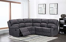 New Atara Large Grey 5 Seater Fabric Reclining