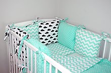 NEW BABY BUMPER MADE OF 6 PILLOWS (24 NEWEST