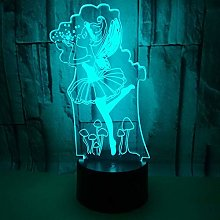 New Ballet 3D Table Lamp Seven Colourful Visual