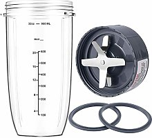 New Blender Cup and Blade Replacement Parts 32oz