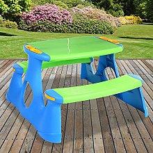 New BLUE Children's Picnic Bench Plastic Table