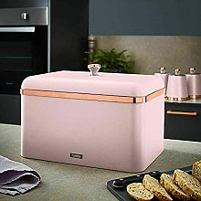 New Blush Pink & Rose Gold Bread Bin Perfect for