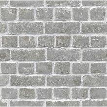 New Brick Effect Feature Brick Wall Design Grey