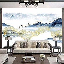 New Chinese Painting Modern Living Room Sofa Wall