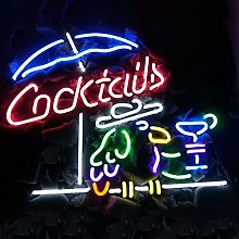 new COCKTAILS birds Real Glass Neon Light Sign
