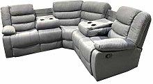 NEW Corner Sofa Recliner folding cupholders   Grey