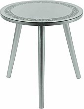 New Crystal Style Round Frame Side Table Stylish