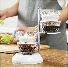 New Design Spice Jar Rack with Rotating Design